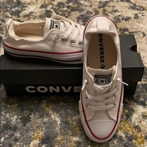 Converse. Womens white shoreline slip on, 6.5